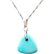 Sterling Silver Persian Free Form Turquoise Necklace