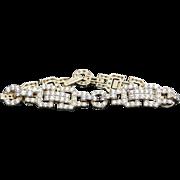 Sterling Silver /Vermeil Simulated Diamond Bracelet