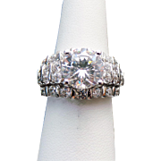 Sterling Silver 3.75 Carat Simulated Diamond Wedding Set