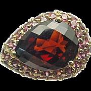 10K Yellow Gold 2.80 Carat Pear Pyrope & Rhodolite Garnet Ring
