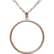 """Sterling Silver Diamond Cut Circle Double Chain Necklace ~ 36"""""""