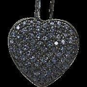 "Sterling Silver Tanzanite Heart Necklace 21"""