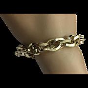 Sterling Silver Vermeil Link Bracelet ~ Circa 1980's