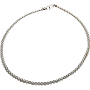 Sterling Silver Quartz Choker Necklace