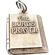 Vintage Sterling Silver, Lords Prayer Pendant/ Charm