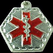 Medical Alert Sterling Silver Engravable Pendant