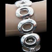 Mexico Sterling Silver Oval Link Bracelet
