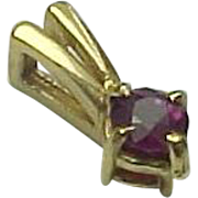 14K Yellow Gold .17 Carat Ruby Pendant
