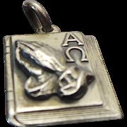 Vintage Sterling Silver,  God Grant Me Serenity Charm