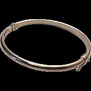 Sterling Silver/Rose Gold Vermeil Hinged Bangle Bracelet