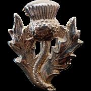 Vintage Sterling Silver Scottish Thistle Brooch