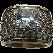 Vermeil 2.00 Carat Princess Cut Simulated Engagement Ring