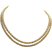 Sterling Silver/ Gold Vermeil Popcorn Chain
