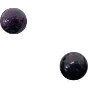 Sterling Silver 8 mm Amethyst Ball Studs