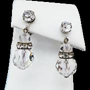 Vintage Castlecliff Rhinestone Clip On Earrings