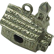 Vintage Sterling Silver Three Dimensional Church Charm