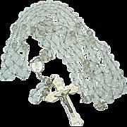 Vintage Stunning Crystal Wedding Lazzo Silver Crucifix