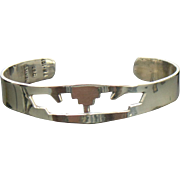 Mexico Sterling Silver Cut Out Cuff Bracelet