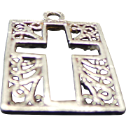 Sterling Silver Filigree Cut Out CROSS Pendant /Charm