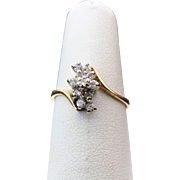 14K Yellow / White Gold .25 Carat Diamond Cluster Ring