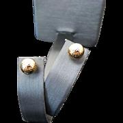 14K Yellow Gold 8 mm Diamond Cut Pierced Post Ball Earrings