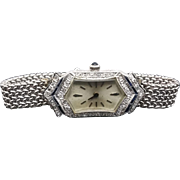 Gorgeous Handcrafted Swiss Art Deco Era lady's Diamonds & Sapphires Wrist Watch Circa 1920's