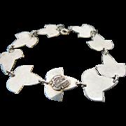 Sterling Silver Family Crest Bracelet ~ aeo~ zeveis:xeipe~ev xelpe