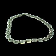 Sterling Silver Greek or Aztec Key Design Collar Necklace