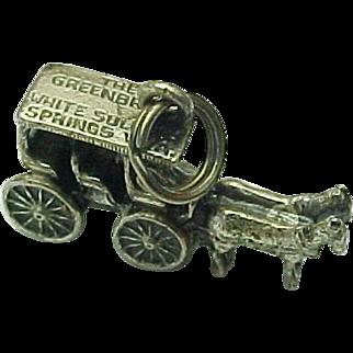 Vintage Greenbrier White Sulphur Springs WV Horse & Buggy Sterling Silver Charm