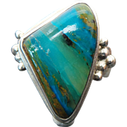 Sterling Silver Turquoise Banded Jasper Ring