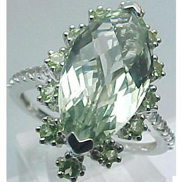 K Marquis Amethyst Ring