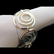 Vintage Sterling Silver/Vermeil Swirl Bracelet