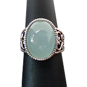 Vintage Sterling Silver Chalcedony Ring