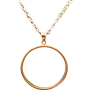 Sterling Silver/Vermeil Diamond Cut Circle Double Chain Necklace ~ 36""