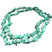 Beautiful Royston Turquoise Nugget Necklace