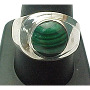 Mexico Unisex Sterling Silver Malachite Ring