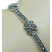 Beautiful Sterling Silver Kisses Marcasite Bracelet