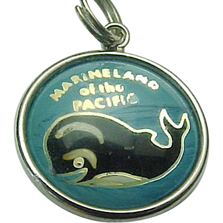 Hoffman Sterling Silver Marineland of the Pacific Bubble Whale Charm
