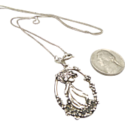 Sterling Silver Little Girl Precious Moments Necklace