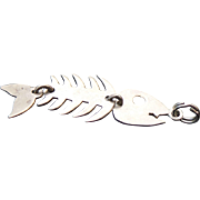 Sterling Silver Reticulated FISH Charm