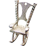 Sterling Silver Rocking Chair Pendant/Charm