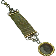 Antique Victorian Etruscan Roman Warrior Intaglio Watch Fob