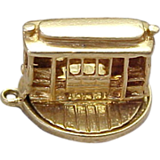 Vintage 14K Gold, Movable 3D San Francisco Trolley Car Charm