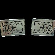 MAR Mexico Sterling Silver/Niello Shadow Box Cuff Links