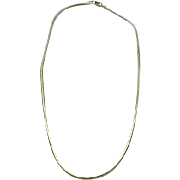 14K Yellow Gold Snake Chain ~ 16""
