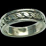 Vintage Sterling Silver Celtic Knot Band