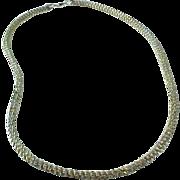"""Estate Sterling Silver Diamond Cut Woven Chain 18 """""""