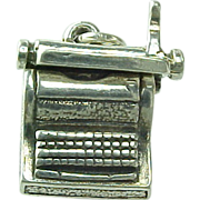 Vintage Sterling Silver WELLS Movable Typewriter Charm
