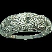 Sterling Silver Swirl Diamond Ring ~ .25 Carat ~