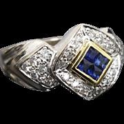 Gorgeous 18 Karat White & Yellow Gold 1.00 CTW Tanzante & Diamond Ring